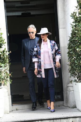 EXCLUSIVE: Andrea Bocelli seen leaving his hotel in Dublin