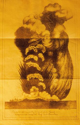 Eruption of Ferdinandea volcano, 1831