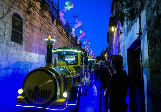 Festival of Light in Old City of Jerusalem