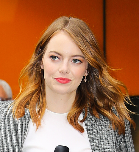 EXCLUSIVE: EMMA STONE WAS SPOTTED LEAVING A RESTAURANT IN NEW YORK CITY
