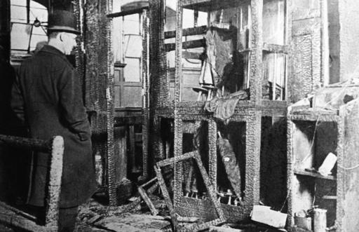 Reichskristallnacht,Berlin,Synagoge/Foto - Kristallnacht / Berlin / Synagogue -