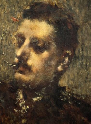 Luigi Conconi / 'Portrait of Giacomo Puccini', Oil on canvas.