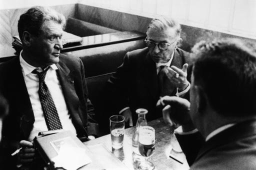 Sartre u. Joseph Keller /Foto um 1958 - Sartre & Joseph Keller / Photo / 1958 -