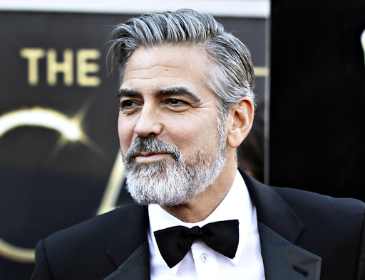 Actor George Clooney arrives at the 85th Academy Awards in Hollywood