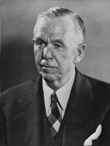 George C.Marshall,Porträtaufnahme 1952 - George C.Marshall / Portrait photo 1952 - George C.Marshall, Portrait photographique 1952