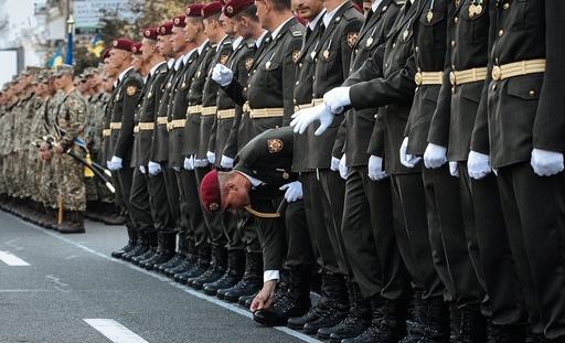 Military parade rehearsal in Kiev
