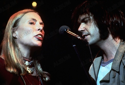 LAST WALTZ, THE (1978), directed by MARTIN SCORSESE. NEIL YOUNG; JONI MITCHELL.