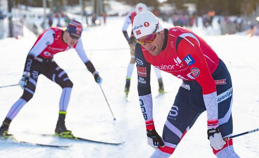 Petter Northug gikk sprinten under Norgescuprennet i langrenn på Gålå i Gudbrandsdalen.