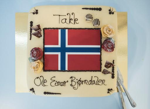 Pressemøte med Ole Einar Bjørndalen på Simostranda.