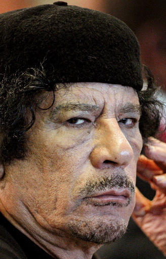 File photo of Libya's leader Gaddafi attending FAO food security summit in Rome