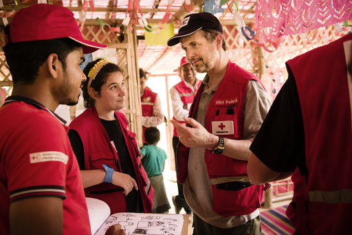 HRH Crown Prince Frederik visits refugee camp in Bangladesh ** MINIMUM PRICE 120 EUROS**