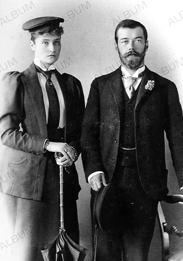 Tsarevich Nicholas Alexandrovich of Russia and Princess Alix of Hesse-Darmstadt in London.