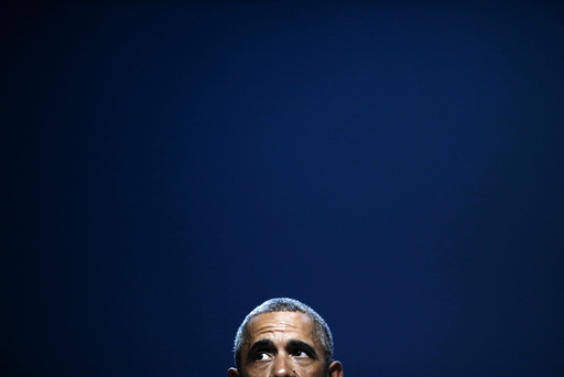 U.S. President Barack Obama pauses as he addresses the National Clean Energy Summit at the Mandalay Bay Resort Convention Center in Las Vegas