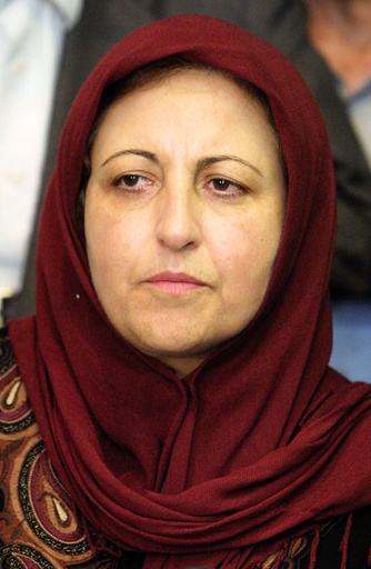 IRANIAN NOBEL PEACE PRIZE WINNER EBADI SPEAKS AT PRESS CONFERENCE IN TEHRAN