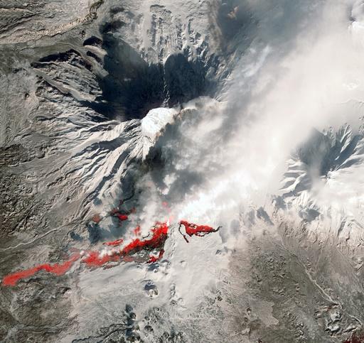 Plosky Tolbachik volcano erupting, 2013