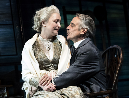 Lesley Manville and Jeremy Irons in Long Days Journey Into Night in New York.