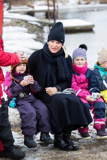 Kronprinsesse Mette-Marit besøker Isegran i Fredrikstad