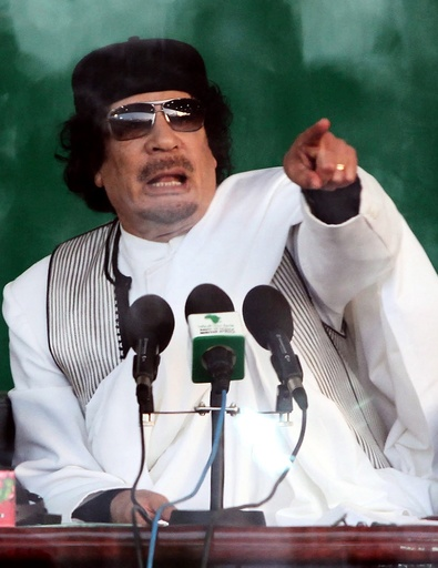 Libyan leader Gaddafi