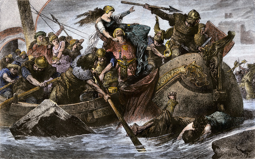 Viking raid under Olaf I