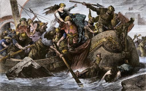 Viking raid under Olaf I