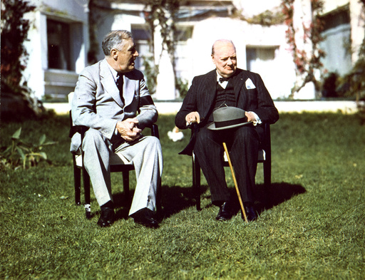 Konferenz v.Casablanca 1943 / Roosevelt und Churchill/ Foto - Casablanca Conf., Roosevelt & Churchill - Conférence de Casablanca, Roosevelt et Churchill