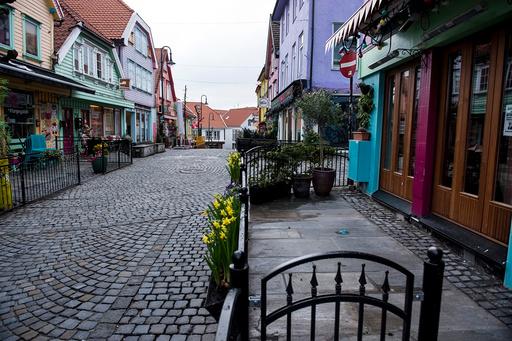 Folketomme gater i Stavanger under koronapandemien. Foto: Carina Johansen / NTB