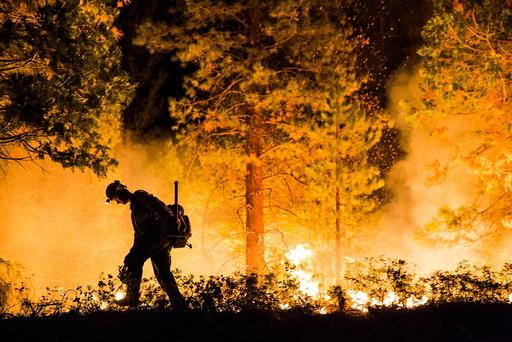 Fulton Hotshot Michael Turowski lights a controlled burn on the so-called