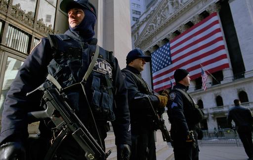 USA. NYC. Orange Alert Status Security.