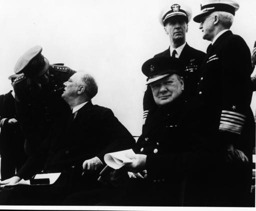 Atlantik-Charta, Roosevelt Churchill u.a - Atlantic charter, Roosevelt/Chruchill - Charte de l'Atl., Roosevelt et Churchill