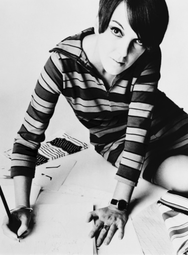 Mary Quant, British mod fashion designer. Her youthful clothing featured mini-skirts, tights, and br