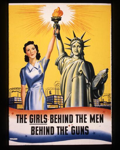 2.Wk./USA/Kriegswirtschaft/Frauen/Plakat - WWII, USA war economy, women / poster -
