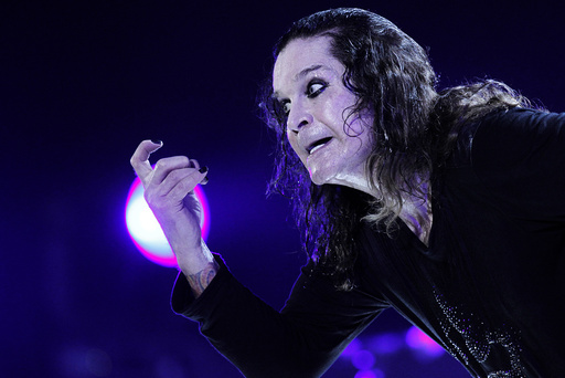 Rock musician Ozzy Osbourne performs during a concert in Brasilia
