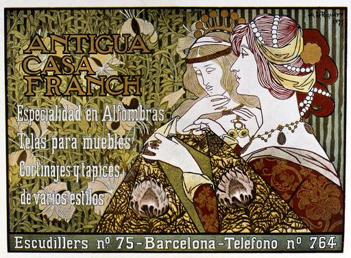 Poster design for Antigua Casa Franch, Barcelona, Spain